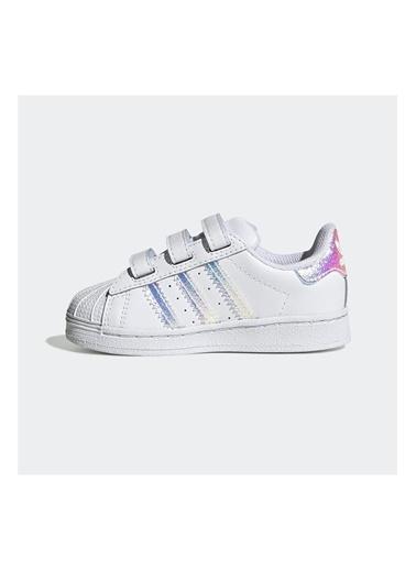 adidas Adidas Bebek Günlük Spor Ayakkabı Superstar Cf I Fv3657 Beyaz